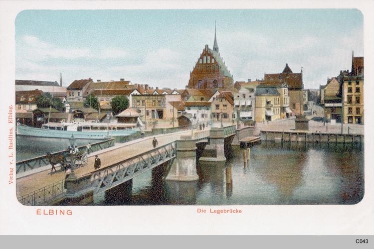 Elbing, Legebrücke