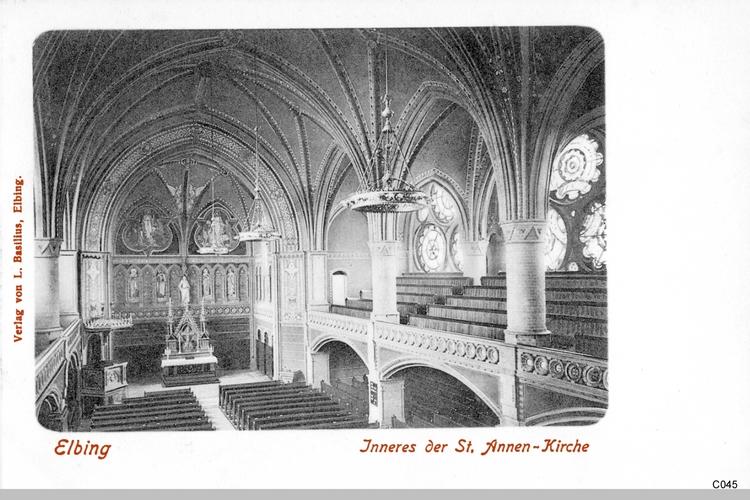 Elbing, Annenkirche, Innenansicht