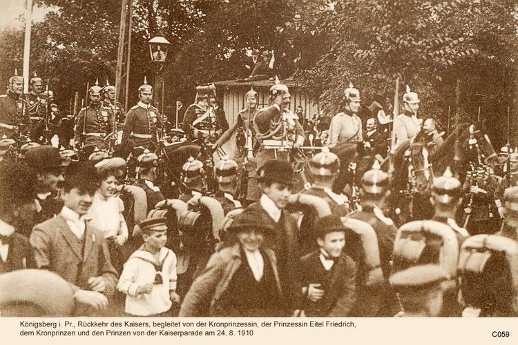 Königsberg, Kaiserparade 24.08.1910
