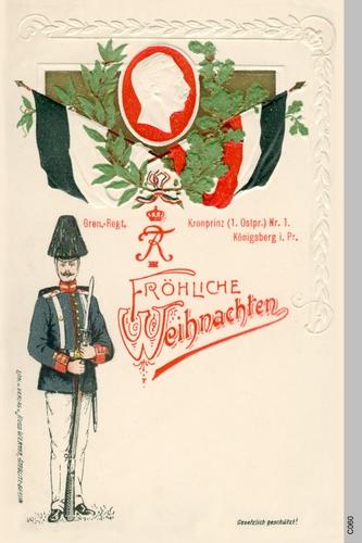 Königsberg, Grenadier Regiment Kronprinz I, Grußpostkarte