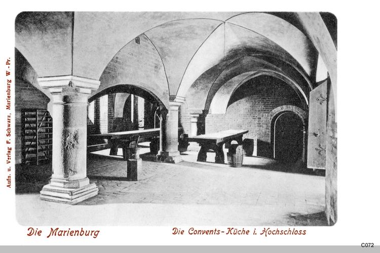 Marienburg, Conventsküche im Hochschloss
