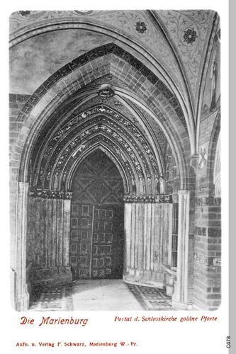 Marienburg, Portal der Schloßkirche