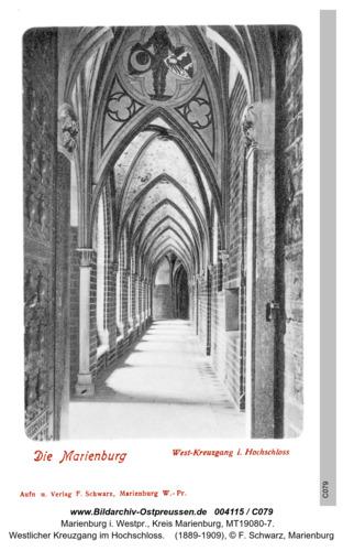 Marienburg, Westlicher Kreuzgang im Hochschloss