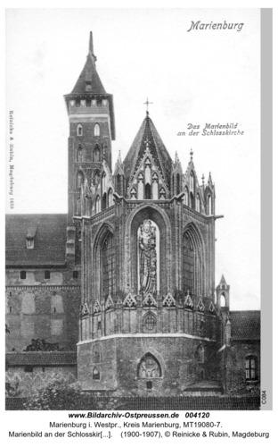 Marienburg, Marienbild an der Schloßkirche
