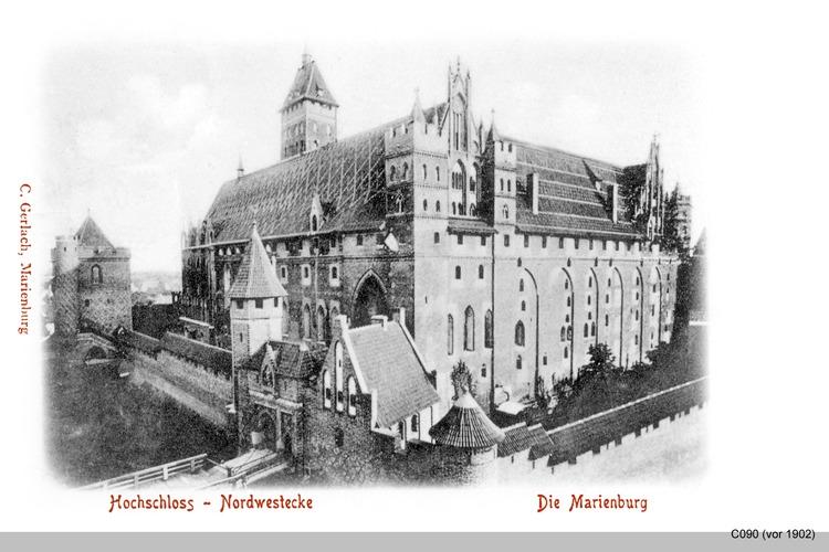 Marienburg, Hochschloss von Nordwest