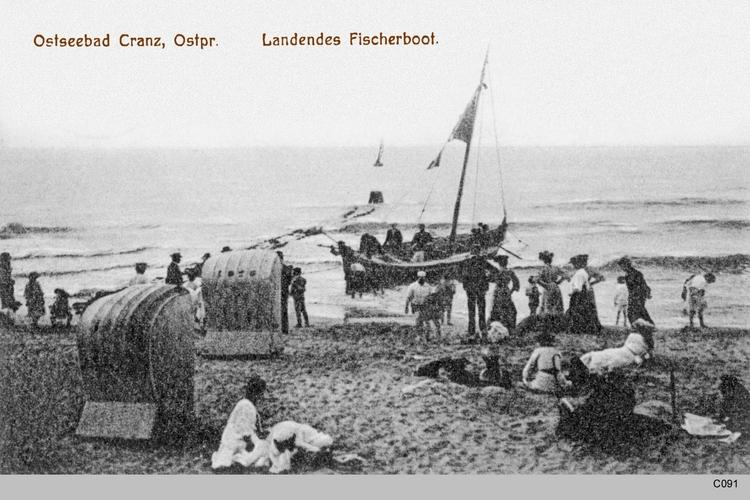 Cranz, Landendes Fischerboot