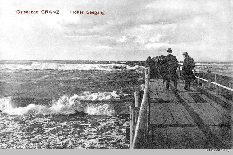 Cranz, Hoher Seegang