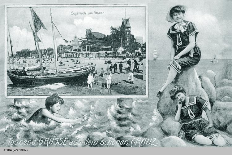 Cranz, Segelboote am Strand