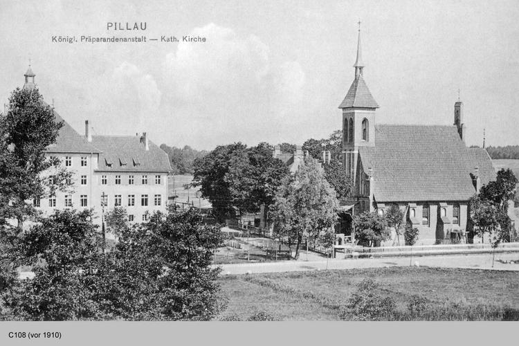 Pillau, Alt-Pillau, Katholische Kirche und Präparandenanstalt
