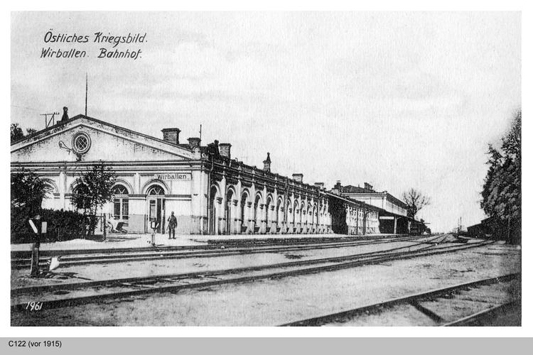 Eydtkau, Russischer Grenzort Wirballen, Bahnhof