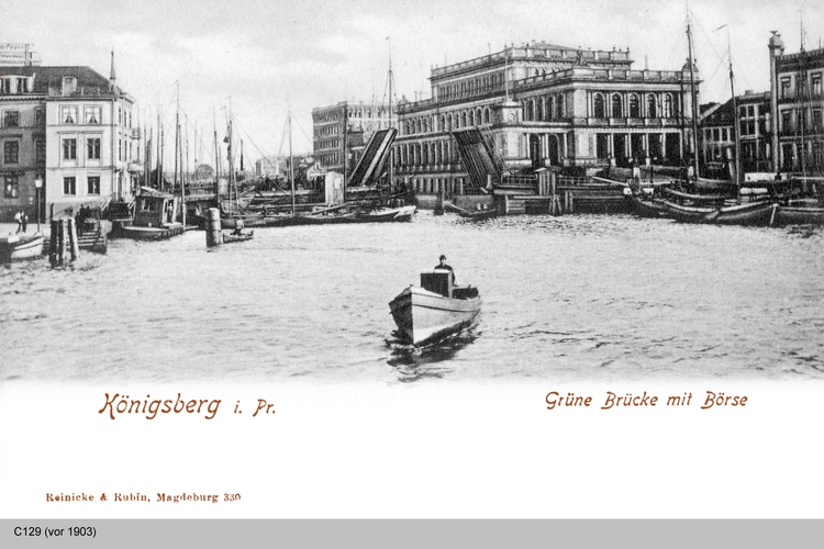 Königsberg, Grüne Brücke mit Börse