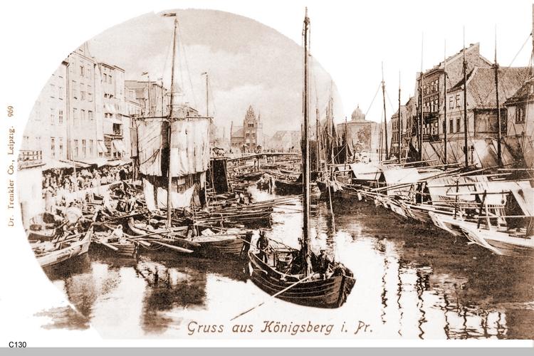 Königsberg, Pregel am Fischmarkt