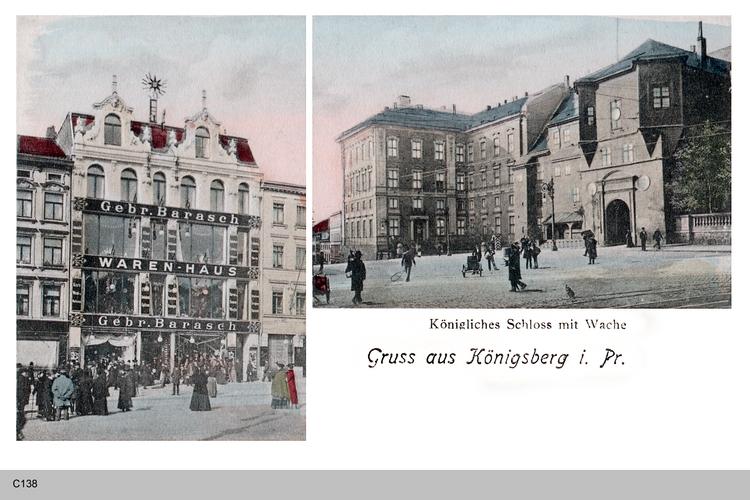 Königsberg, Schloß mit Wache, Warenhaus