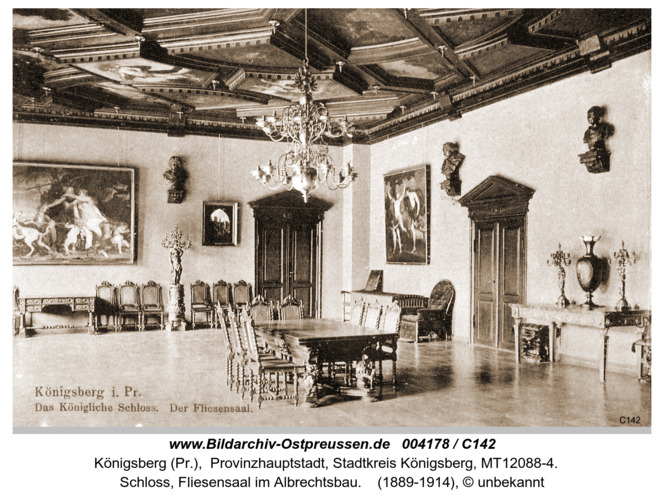 Königsberg, Fliesensaal im Schloß