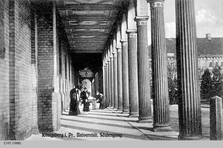 Königsberg, Universität, Säulengang