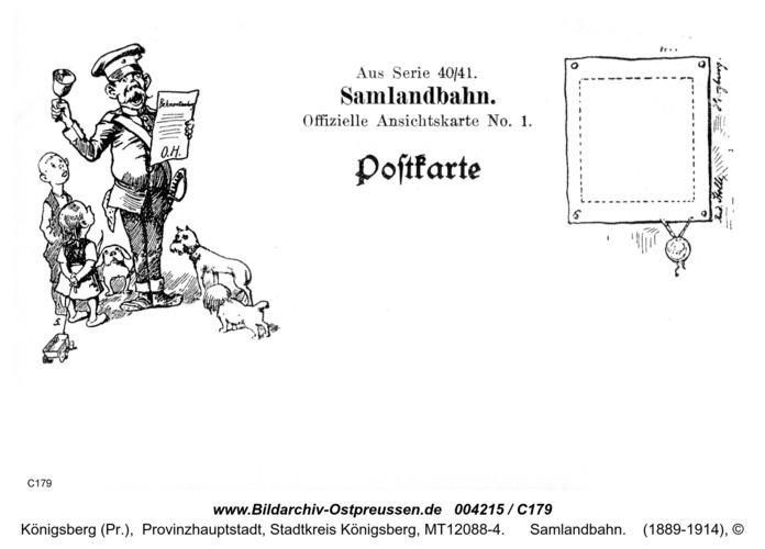 Offizielle Ansichtskarte Nr.1 40/41, Samlandbahn
