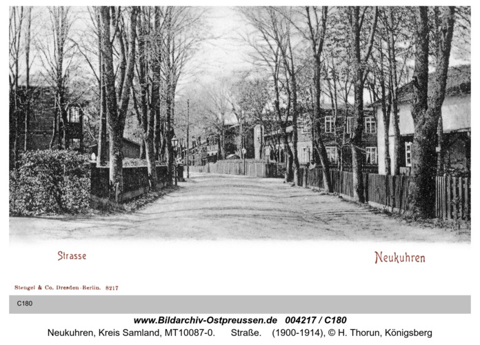 Neukuhren, Straße