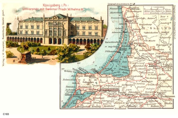Königsberg, Universität und Samlandkarte