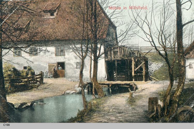 Mühlfeld, Blick auf die Mühle