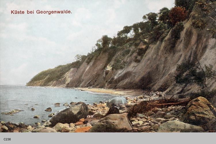 Georgenswalde, Steilküste