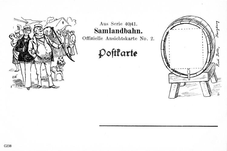 Offizielle Ansichtskarte No.2, Serie 40/41 Samlandbahn