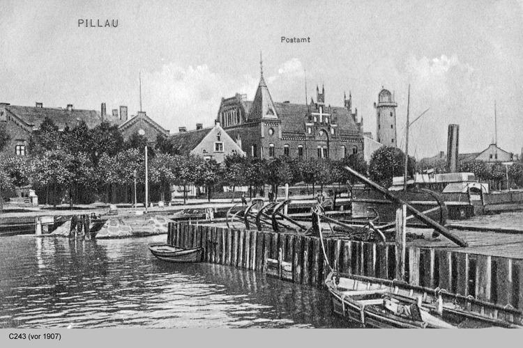 Pillau, Seestadt, Ortsansicht Lotsenhafen