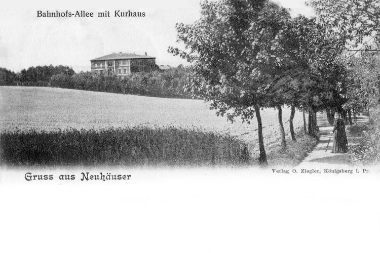 Neuhäuser, Bahnhofsallee mit Kurhaus