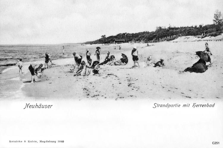 Neuhäuser, Strand mit Herrenbad