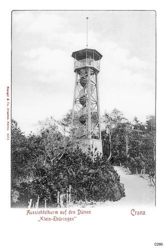 Cranz, Klein-Thüringen, Aussichtsturm auf den Dünen