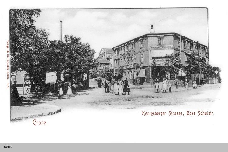 Cranz, Königsberger Straße, Schulstraße