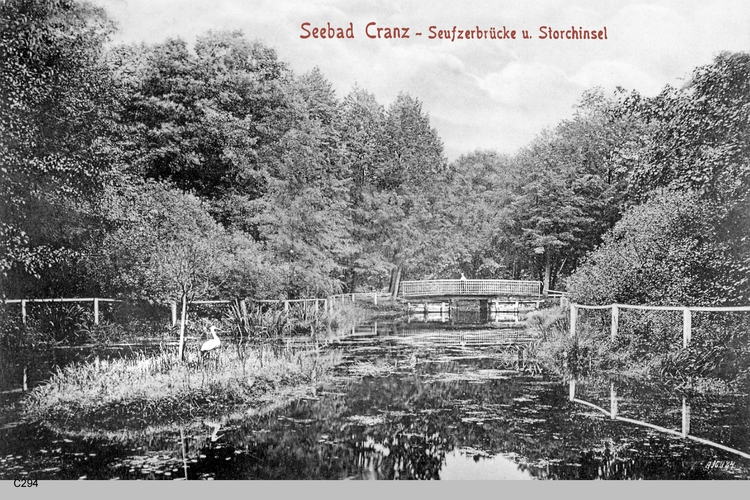 Cranz, Seufzerbrücke, Storchinsel