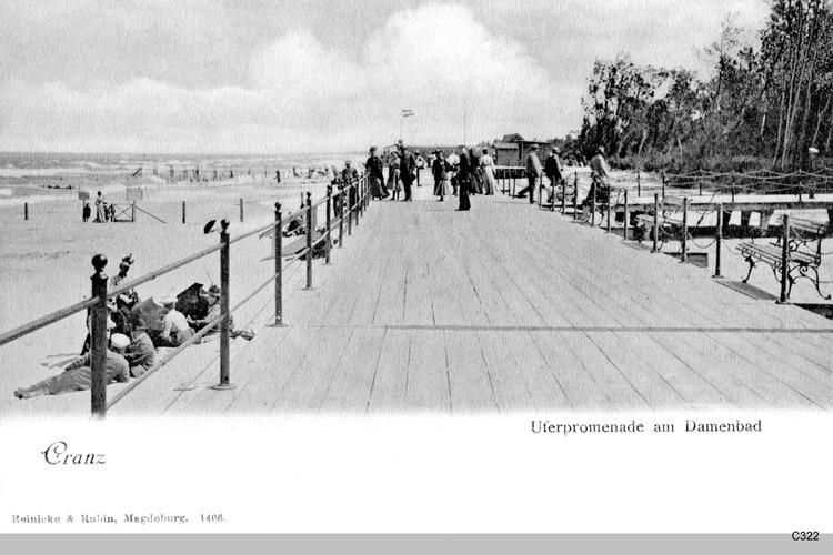 Cranz, Uferpromenade am Damenbad
