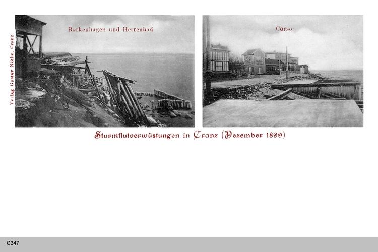 Cranz, Sturmschaden 1899