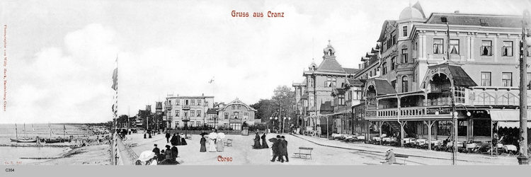 Cranz, Panoramabild und Corso