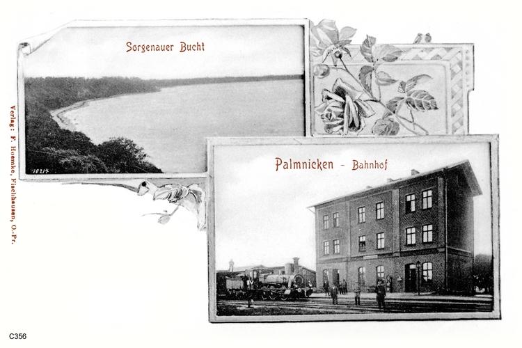 Palmnicken, Bahnhof, Sorgenauer Bucht