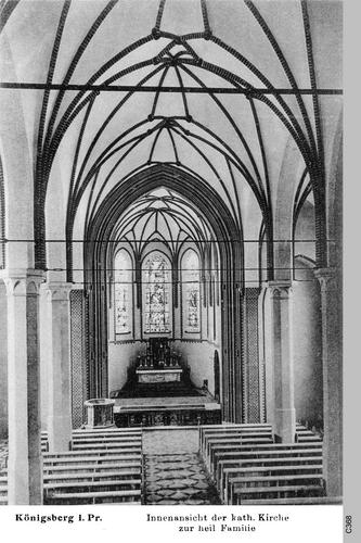 Königsberg, Kirche zur heiligen Familie, Innenaufnahme