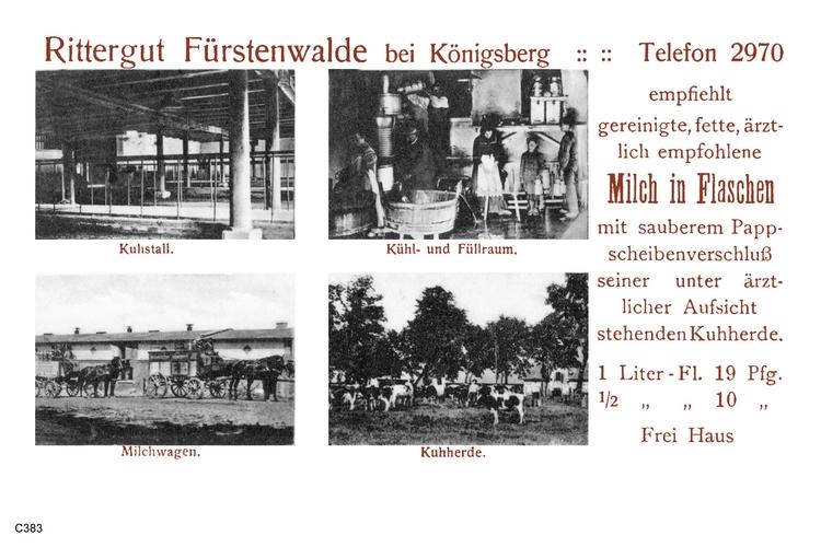 Fürstenwalde, Rittergut