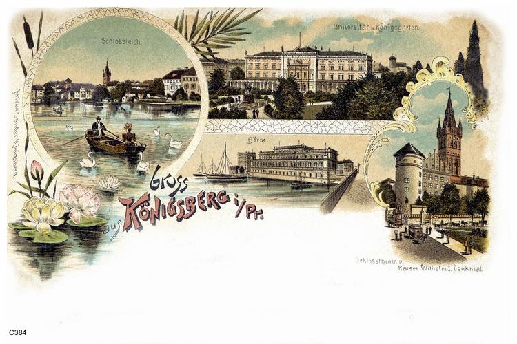 Königsberg, Ansichtskarte