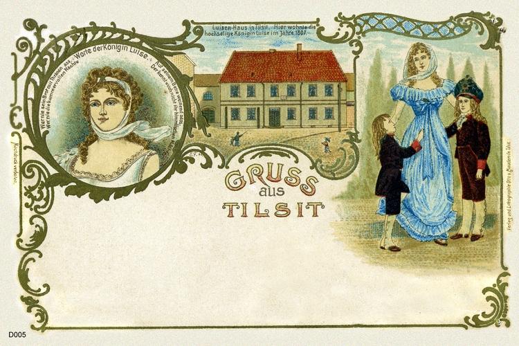 Tilsit, Schmuckkarte