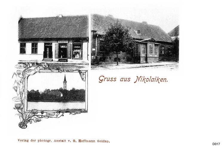 Nikolaiken, in Masuren, Ansichtskarte