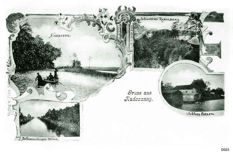 Masuren, Niedersee, Rudczanny, Lötzen, Ansichtskarte