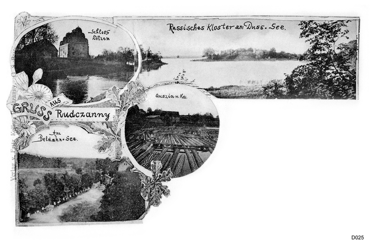 Masuren, Rudczanny, Guszianka, Lötzen, Ansichtskarte