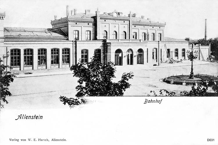 Allenstein, Bahnhof