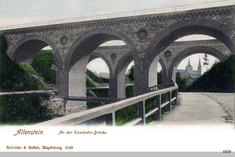 Allenstein, Eisenbahnbrücke