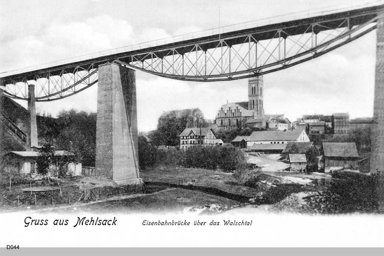 Mehlsack, Eisenbahnbrücke über das Walschtal