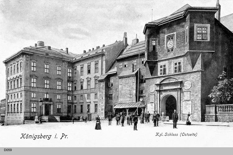 Königsberg, Schloß Ostseite