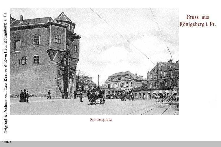Königsberg, Schloßplatz mit Blick zum Münzplatz