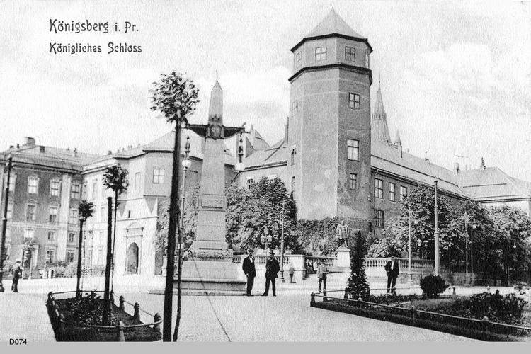 Königsberg, Schloßplatz mit Blick vom Münzplatz