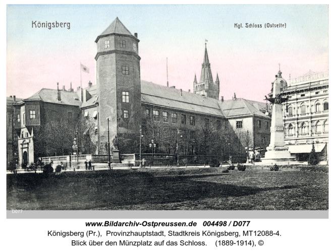 Königsberg, Blick über den Münzplatz auf das Schloß