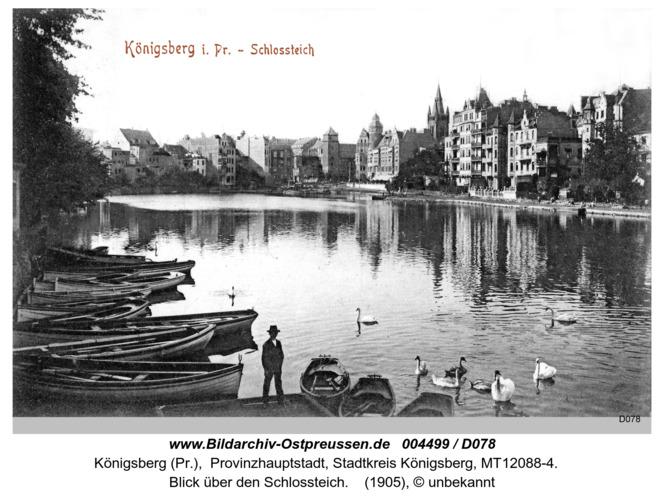 Königsberg, Blick über den Schloßteich
